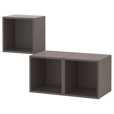EKET Combinazione di mobili da parete, grigio scuro, 105x35x70 cm