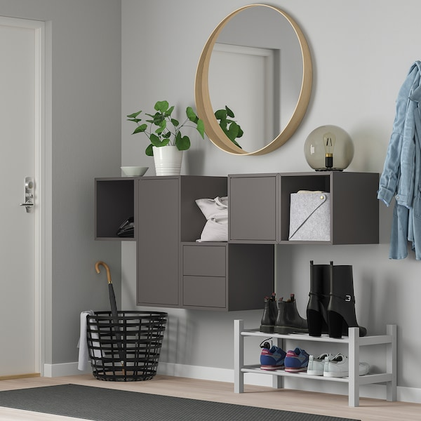 EKET combinazione di mobili da parete grigio scuro 175 cm 35 cm 70 cm