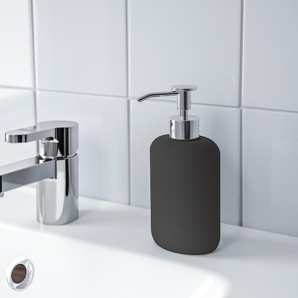 EKOLN dispenser per sapone grigio scuro 18 cm 300 ml