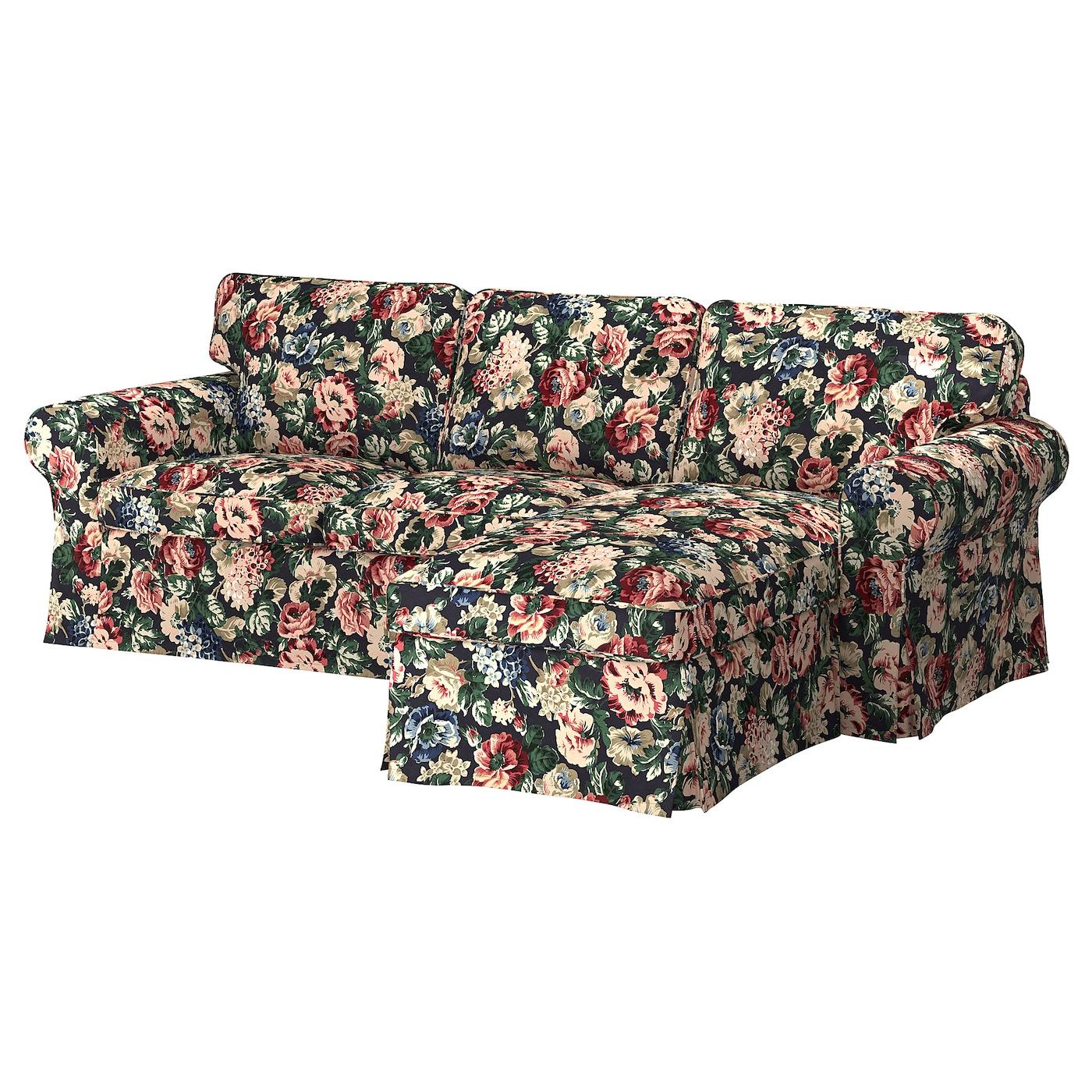 Divano Letto Ektorp Usato.Ektorp Divano A 3 Posti Con Chaise Longue Lingbo Fantasia Ikea