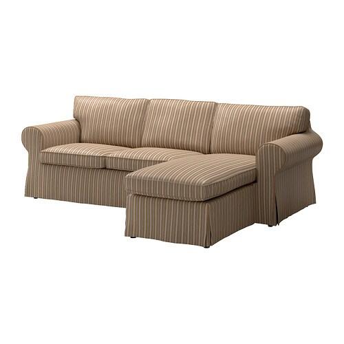 Ektorp divano a 2 posti e chaise longue linghem marrone - Ikea divano chaise longue ...