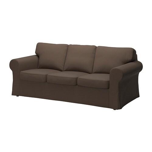 Ektorp divano a 3 posti jonsboda marrone ikea for Ikea divano ektorp 3 posti