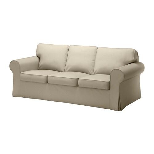 Ektorp divano a 3 posti tygelsj beige ikea - Ikea divano ektorp 3 posti ...