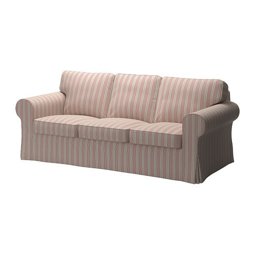 Ektorp divano a 3 posti mobacka beige rosso ikea for Ikea divano ektorp 3 posti