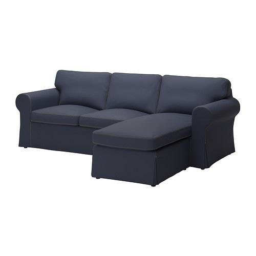 Ektorp divano a 2 posti e chaise longue jonsboda blu ikea - Ikea divano ektorp 2 posti ...