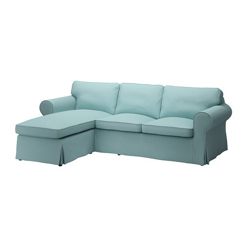 Ektorp divano a 2 posti e chaise longue isefall turchese chiaro ikea - Divano ektorp 2 posti ...