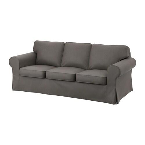 Ektorp divano a 3 posti nordvalla grigio ikea for Ikea divano ektorp 3 posti