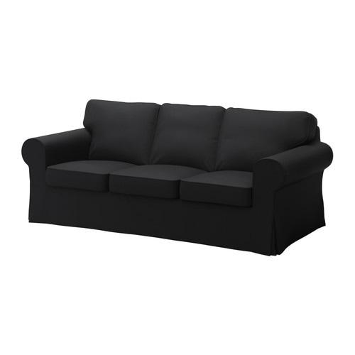 Ektorp divano a 3 posti isefall nero ikea - Ikea divano ektorp 3 posti ...