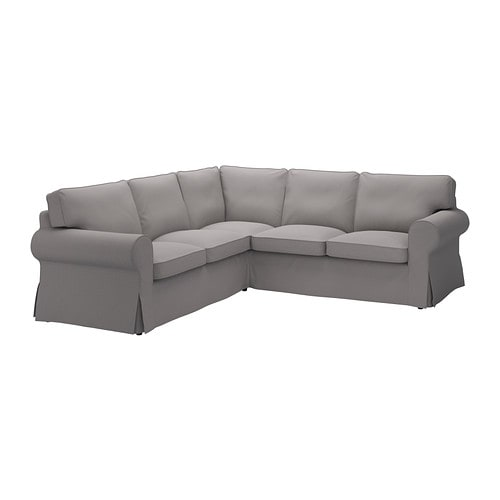 EKTORP Divano angolare 2+2 - Isefall grigio fumo - IKEA
