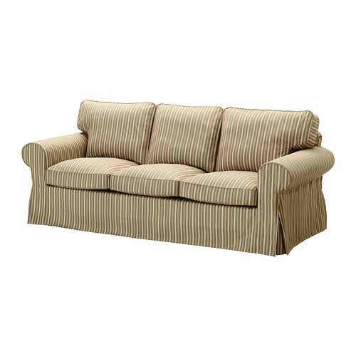 Ektorp fodera per divano a 3 posti linghem marrone for Fodere divano ektorp ikea
