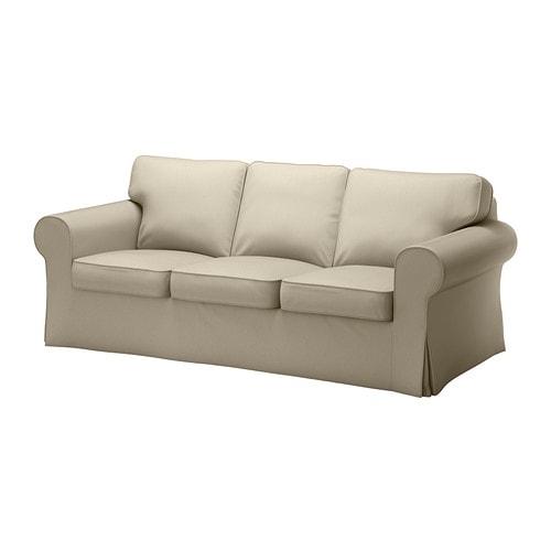Ektorp fodera per divano a 3 posti tygelsj beige ikea for Fodere divano ektorp ikea