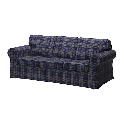 EKTORP Fodera per divano a 3 posti - Rutna multicolore - IKEA