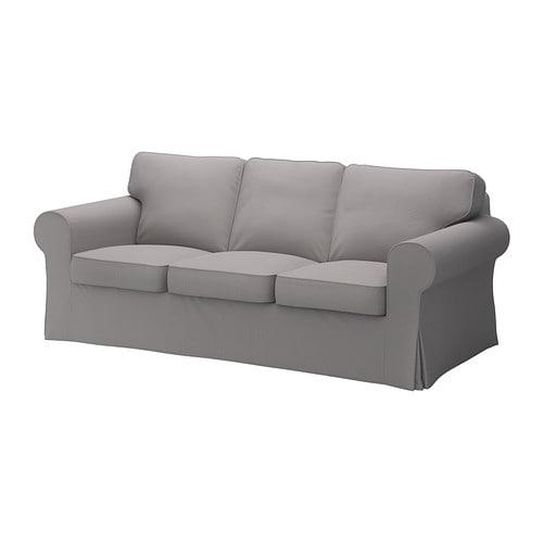 Ektorp fodera per divano a 3 posti isefall grigio fumo - Copridivano ektorp 3 posti letto ...