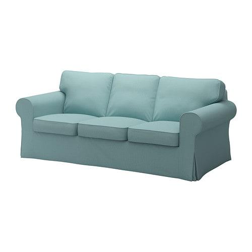 Ektorp fodera per divano a 3 posti isefall turchese for Fodere divano ektorp ikea