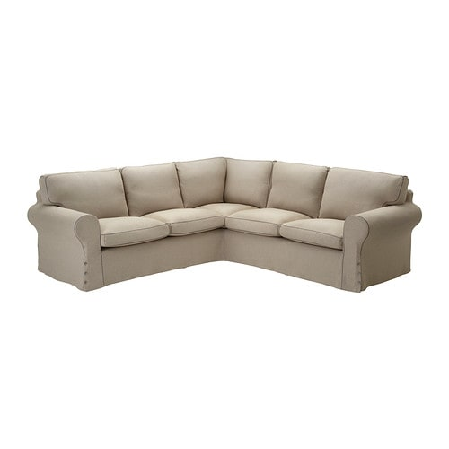 Ektorp fodera per divano angolare 2 2 risane naturale ikea for Fodere divano ektorp ikea
