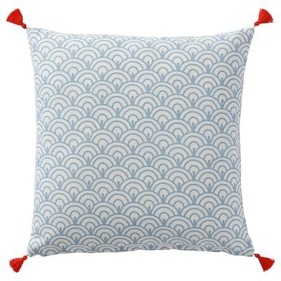 ELDGULDVINGE Fodera per cuscino, blu, 50x50 cm