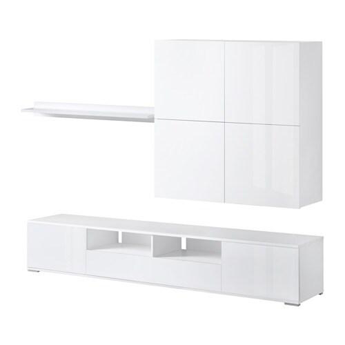 Ellanda mobiletv bianco lucido bianco ikea - Mobile porta tv bianco ikea ...