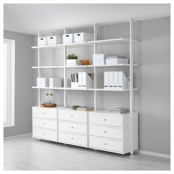 ELVARLI 3 sezioni bianco 258x51x222 350 cm