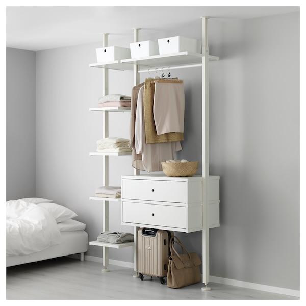 ELVARLI Combinazione di guardaroba, bianco, 135x51x222-350 cm