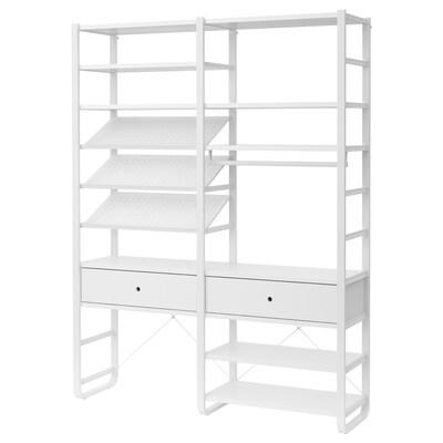 ELVARLI Combinazione di guardaroba, bianco, 165x40x216 cm