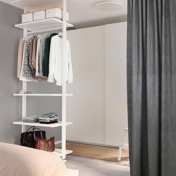 ELVARLI Combinazione di guardaroba, bianco, 92x51x222-350 cm