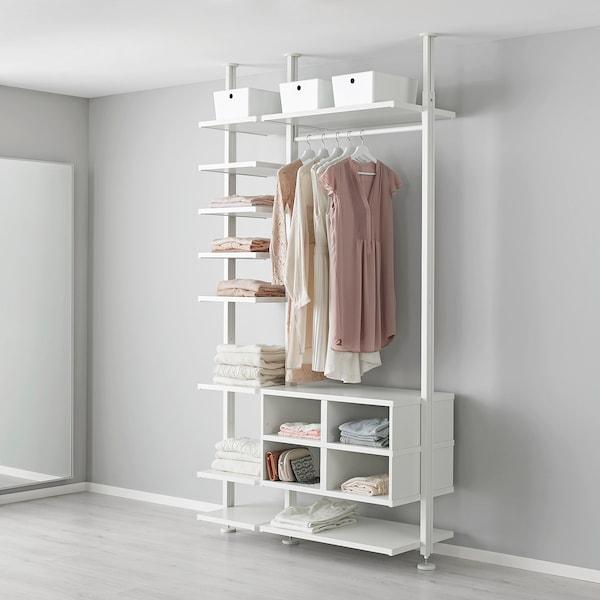 Cartongesso Armadio A Muro Ikea.Elvarli Montante Bianco 222 350 Cm Ikea