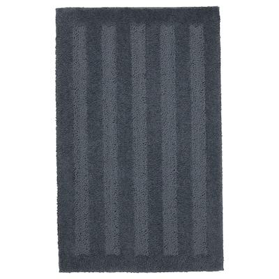 EMTEN Tappeto per bagno, grigio scuro, 50x80 cm