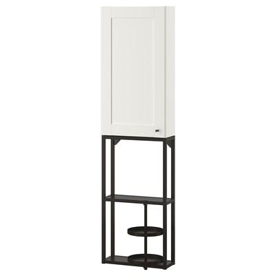 ENHET Combinazione da parete, antracite/bianco cornice, 40x17x150 cm