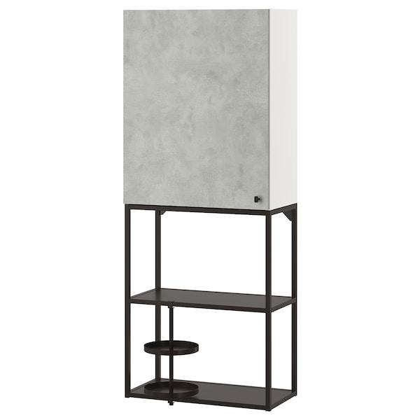 ENHET Combinazione da parete, antracite/effetto cemento, 60x30x150 cm