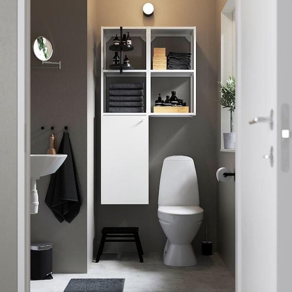 ENHET Combinazione da parete, bianco, 80x30x150 cm