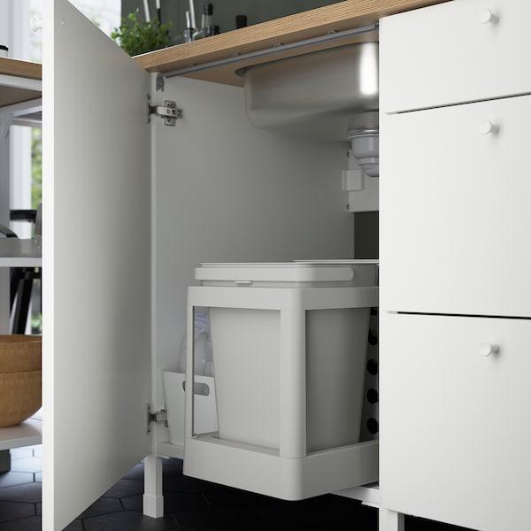 ENHET Cucina angolare, antracite/bianco