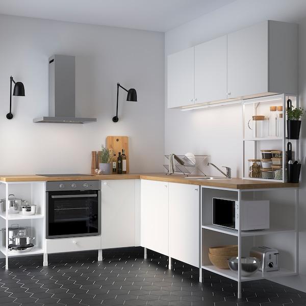 ENHET Cucina angolare, bianco