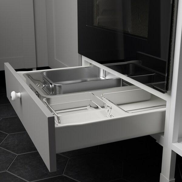 ENHET Cucina, antracite/grigio cornice, 243x63.5x241 cm