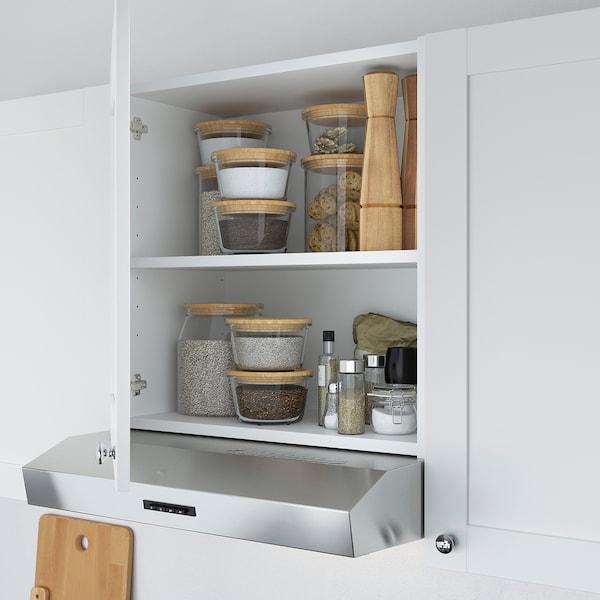 ENHET Cucina, bianco cornice, 243x63.5x222 cm