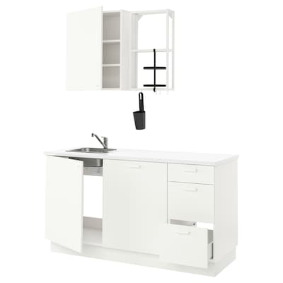 ENHET Cucina, bianco, 163x63.5x222 cm