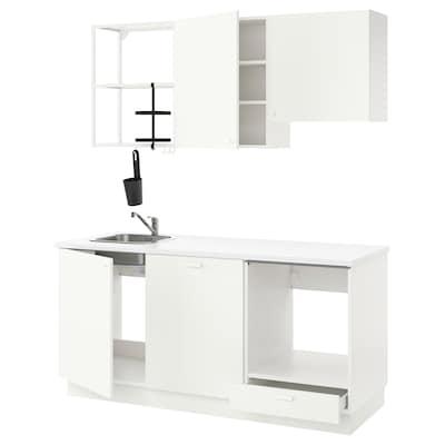 ENHET Cucina, bianco, 183x63.5x222 cm