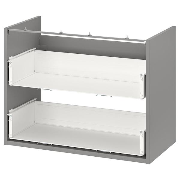 ENHET Mobile per lavabo con 2 cassetti, grigio, 80x40x60 cm