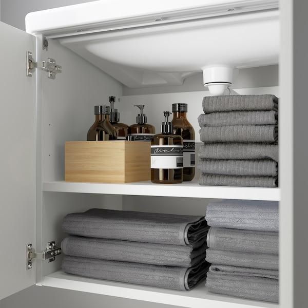 ENHET / TVÄLLEN Mobile per lavabo con 2 ante, bianco/Miscel Pilkån, 84x43x87 cm