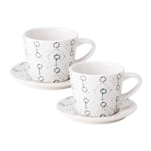 ENIGT Tazza da caffè con piattino IKEA