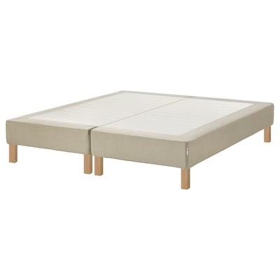 ESPEVÄR Base per materasso a doghe/gambe, naturale, 160x200 cm