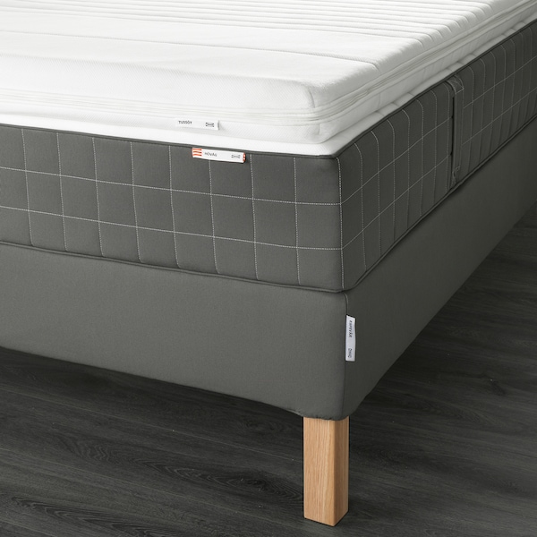 ESPEVÄR Sommier, Hövåg rigido/Tussöy grigio scuro, 160x200 cm