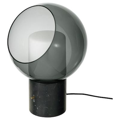 EVEDAL Lampada da tavolo, marmo/grigio globo