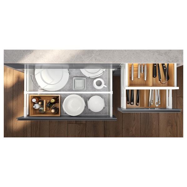 EXCEPTIONELL Cassetto basso apertura a pressione, bianco, 60x60 cm