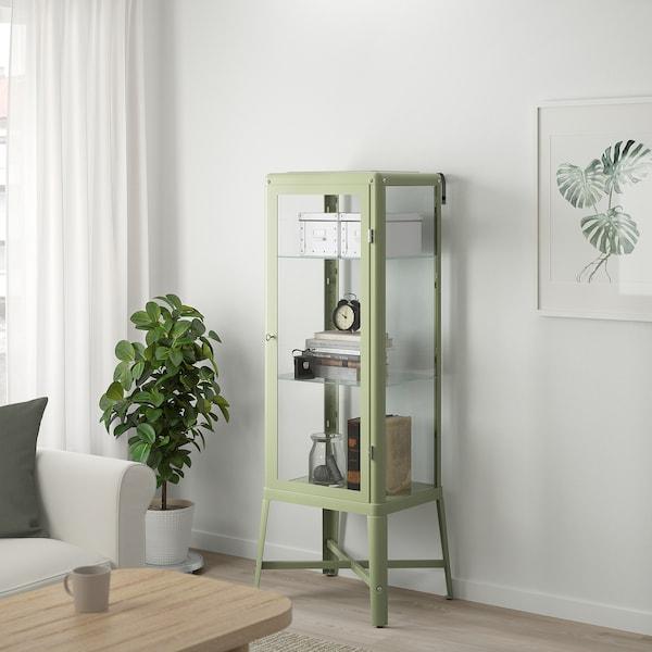 FABRIKÖR Vetrina, grigio pallido-verde, 57x150 cm