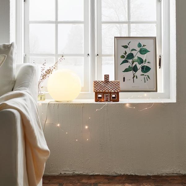 FADO Lampada da tavolo, bianco, 25 cm