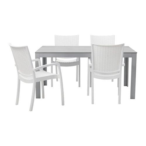 Falster innamo tavolo 4 sedie braccioli giardino for Ikea set giardino