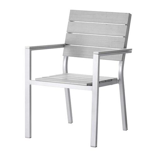 falster sedia con braccioli da giardino grigio ikea. Black Bedroom Furniture Sets. Home Design Ideas