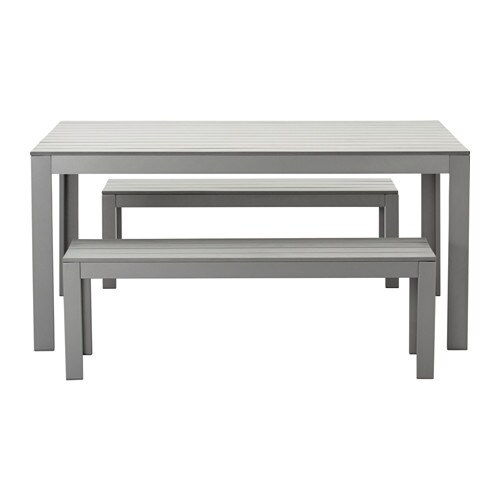Falster tavolo 2 panche da giardino grigio ikea - Ikea panche da giardino ...