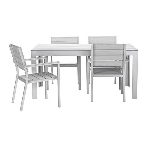 falster tavolo 4 sedie braccioli giardino grigio ikea. Black Bedroom Furniture Sets. Home Design Ideas