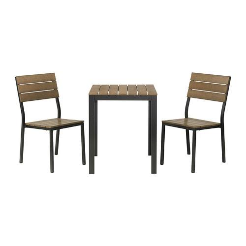 FALSTER Tavolo+2 sedie da giardino IKEA Le stecche in polistirene ...
